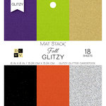 Die Cuts with a View - Fall Glitzy Collection - Halloween - Glitzy Glitter Mat Stack - 6 x 6