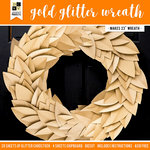 Die Cuts with a View - Halloween - Paper Projects - Gold Glitter Wreath