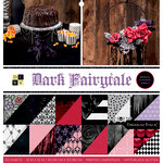 Die Cuts with a View - Dark Fairytale Collection - Halloween - Glitter Paper Stack - 12 x 12