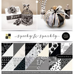Die Cuts with a View - Spooky and Sparkly Collection - Halloween - Foil Paper Stack - 12 x 12