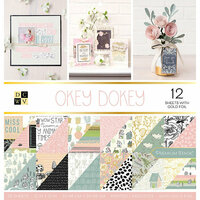 Die Cuts with a View - Okey Dokey Collection - Foil Paper Stack - 12 x 12