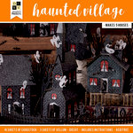 Die Cuts with a View - Halloween - Paper Projects - Haunted Village