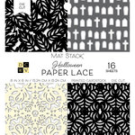 Die Cuts with a View - Fall Paper Lace Collection - Halloween - Die Cut Paper Mat Stack - 6 x 6 - Black and White