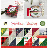 Die Cuts with a View - Farmhouse Christmas Collection - Foil Paper Stack - 12 x 12