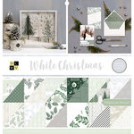 Die Cuts with a View - White Christmas Collection - Glitter Paper Stack - 12 x 12