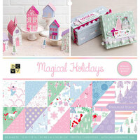 Die Cuts with a View - Magical Holiday Collection - Foil Paper Stack - 12 x 12