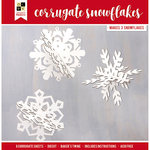 Die Cuts with a View - Christmas - Paper Projects - Corrugate Snowflakes