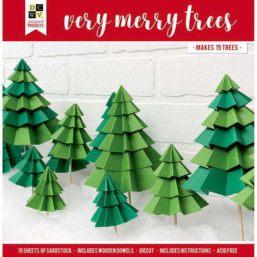 Die Cuts with a View - Christmas - Paper Projects - Very Merry Trees