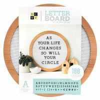 Die Cuts with a View - Letter Board - Circular - White with Light Wood - 15 x 15