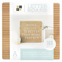 Die Cuts with a View - Letter Board - Frameless - Dark Wood -12 x 12