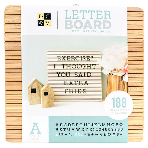 Die Cuts with a View - Letter Board - Frameless - Light Wood - 12 x 12