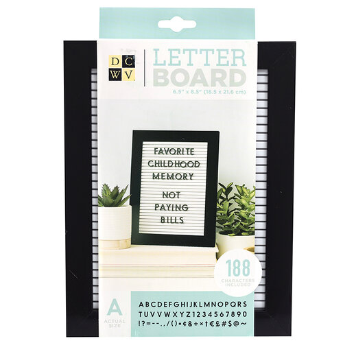 Die Cuts with a View - Letter Board - Standup - White with Black Frame - 6.5 x 8.5