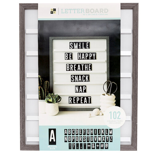 Die Cuts with a View - Letter Board - Sliding - Grey Oak - 16 x 20