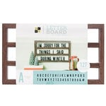 Die Cuts with a View - Letter Board - Backless - Walnut - 20 x 12