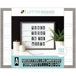 Die Cuts with a View - Letter Board - Sliding - Grey Oak - 20 x 16
