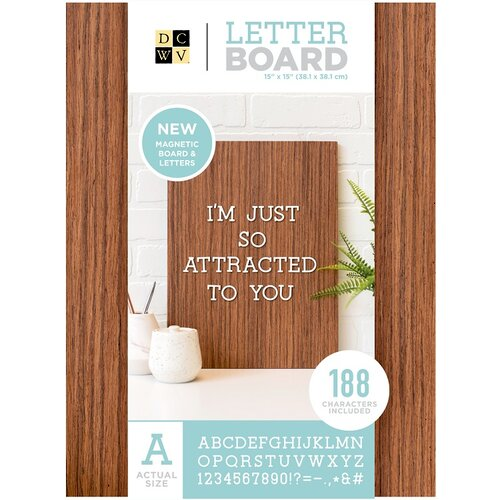 Die Cuts with a View - LetterBoard - Magnetic - Dark Wood - 14 x 20
