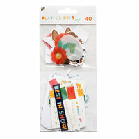 Die Cuts with a View - Playful Pets Collection - Ephemera with Glitter Accents - Dogs