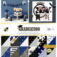 Die Cuts with a View - Graduation Collection - Foil Paper Stack - 12 x 12