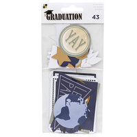 Die Cuts with a View - Graduation Collection - Ephemera with Foil Accents