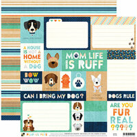 Die Cuts with a View - Playful Pets Collection - 12 x 12 Double Sided Paper - Dog Tags