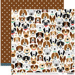 Die Cuts with a View - Playful Pets Collection - 12 x 12 Double Sided Paper - Dogs