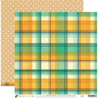 Die Cuts with a View - Playful Pets Collection - 12 x 12 Double Sided Paper - Large Plaid