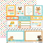 Die Cuts with a View - Playful Pets Collection - 12 x 12 Double Sided Paper - Cat Tags
