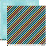 Die Cuts with a View - Playful Pets Collection - 12 x 12 Double Sided Paper - Diagonal Stripe