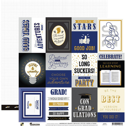 Die Cuts with a View - Graduation Collection - 12 x 12 Double Sided Paper - Celebration
