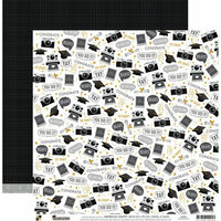 Die Cuts with a View - Graduation Collection - 12 x 12 Double Sided Paper - Grad Memories