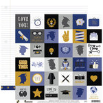 Die Cuts with a View - Graduation Collection - 12 x 12 Double Sided Paper - Grad Icons