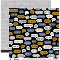 Die Cuts with a View - Graduation Collection - 12 x 12 Double Sided Paper - Speech Bubbles
