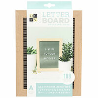 Die Cuts with a View - Letter Board - Standup - Grey with Light Wood Frame - 6.5 x 8.5