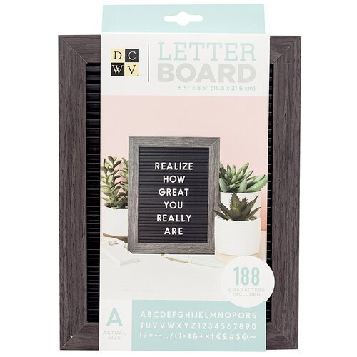 Die Cuts with a View - Letter Board - Standup - Black with Grey Frame - 6.5 x 8.5