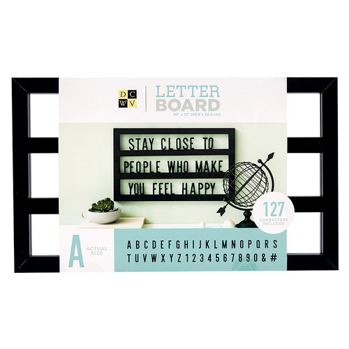 Die Cuts with a View - Letter Board - Backless - Black - 20 x 12