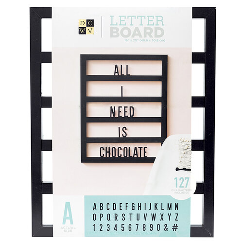 Die Cuts with a View - Letter Board - Backless - Black - 16 x 20