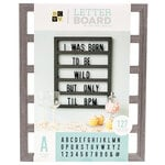 Die Cuts with a View - Letter Board - Backless - Grey Oak - 16 x 20