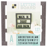 Die Cuts with a View - Letter Board - Backless - Grey Oak - 12 x 12