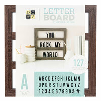 Die Cuts with a View - Letter Board - Backless - Walnut - 12 x 12