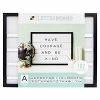 Die Cuts with a View - Letter Board - Sliding - Black - 20 x 16
