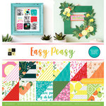 Die Cuts with a View - Easy Peasy Collection - Gloss Paper Stack - 12 x 12