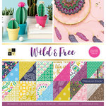 Die Cuts with a View - Wild and Free Collection - Foil Paper Stack - 12 x 12