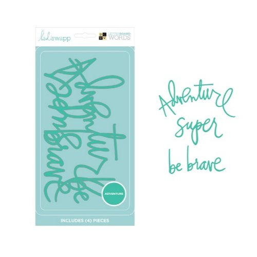 Die Cuts with a View - Heidi Swapp - Letter Board - Word Packs - Teal - Adventure