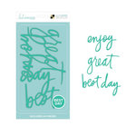Die Cuts with a View - Heidi Swapp - Letter Board - Word Packs - Teal - Best Day