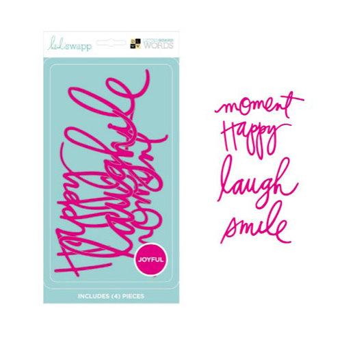 Die Cuts with a View - Heidi Swapp - Letter Board - Word Packs - Pink - Joyful