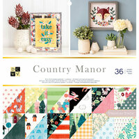 Die Cuts with a View - Country Manor Collection - Glitter and Foil Paper Stack - 12 x 12