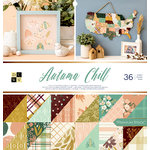 Die Cuts with a View - Autumn Chill Collection - Foil Paper Stack - 12 x 12