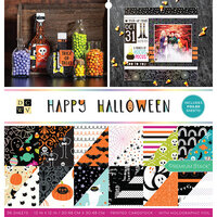 Die Cuts with a View - Happy Halloween Collection - Foil Paper Stack - 12 x 12