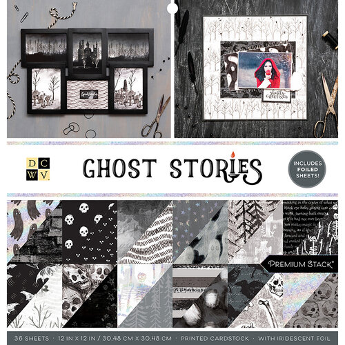 Die Cuts with a View - Ghost Stories Collection - Foil Paper Stack - 12 x 12