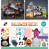 Die Cuts with a View - Halloween Diecut Collection - Foil Paper Stack - 12 x 12